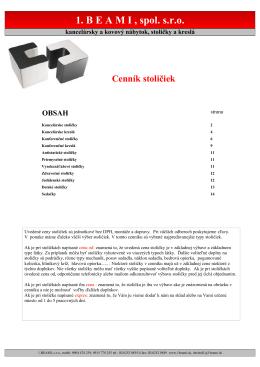 Základný katalóg sedacieho nábytku
