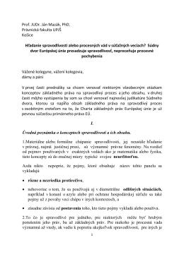 Prof. JUDr. Ján Mazák, PhD. Právnická fakulta UPJŠ Košice