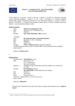 Zmluva o NFP_31SP-1201_VZ_ThermalKesov,_s.r.o.