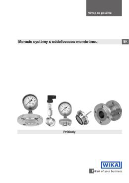 Meracie systémy s oddeľovacou membránou