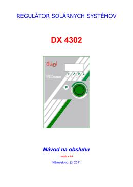 DX 4302 Návod na obsluhu