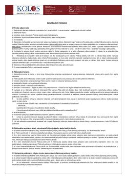 Reklamačný poriadok (pdf)