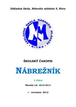 NÁBREŽNÍK - Základná škola, Nábrežie mládeže 5, Nitra
