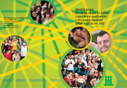Výročná správa ZPMP v SR za rok 2012