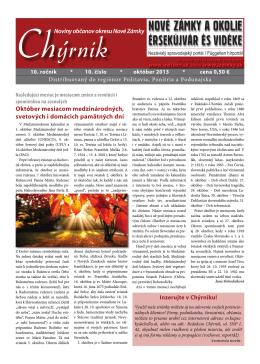 Noviny občanov okresu Nové Zámky Október mesiacom