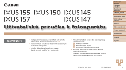 Užívateľská príručka k fotoaparátu