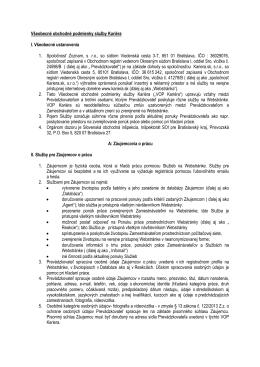 Všeobecné obchodné podmienky - Kariéra.sk