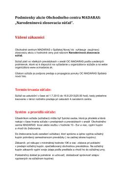 """""""Narodeninová zlosovacia súťaž""""."""
