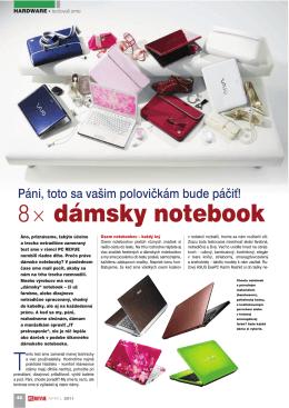 8× dámsky notebook