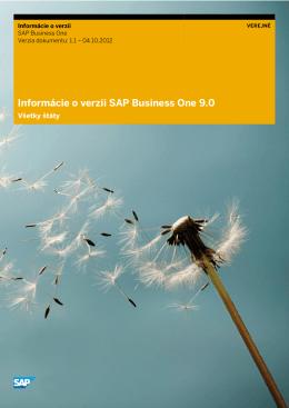 Informácie o verzii SAP Business One 9.0