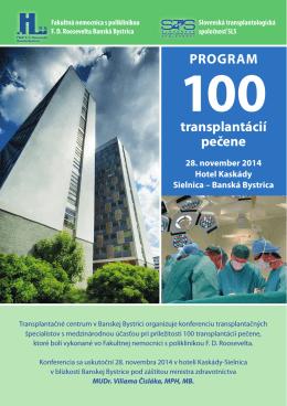 PROGRAM transplantácií pečene