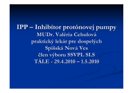 IPP – Inhibítor protónovej pumpy