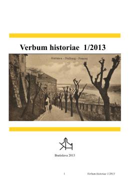 Verbum historiae 1-2013 final verzia