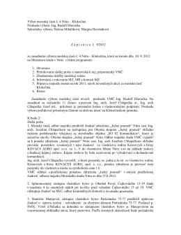 Zápisnica z 10.9.2012 - Čajkovského 13,15,17,19