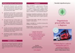 Organizácia pracovného času v doprave