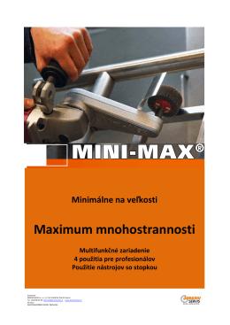MINI-MAX Prospekt - ABRASIVSERVIS sro