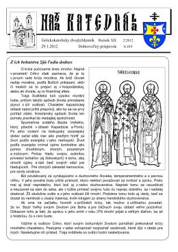 02_2012 - Gréckokatolícka eparchia Košice