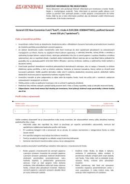 """(""""fond""""), trieda A EUR (ISIN: IE00B447TW91), podfond"""