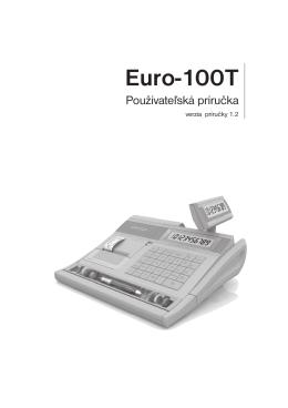 Manuál pre pokladnicu EURO 100T