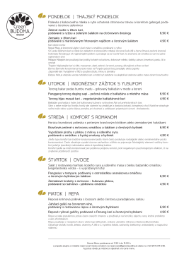pondelok - Green Buddha Restaurant