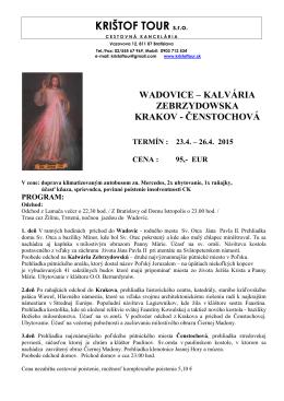 program - Krištof tour