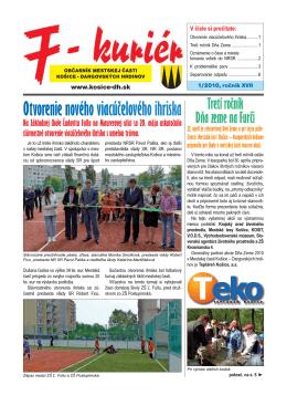 1_2010 - Mestská časť KOŠICE