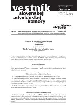 Skúšobný poriadok - Slovenská advokátska komora