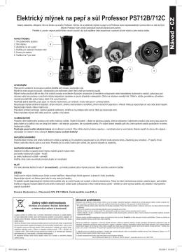 Elektrický mlýnek na pepř a sůl Professor PS712B