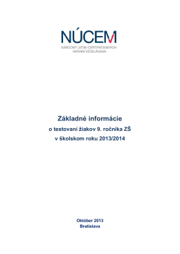 Základné informácie k T9-2014