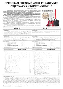 (2014-08 objednávka Kroku 2 a 3)