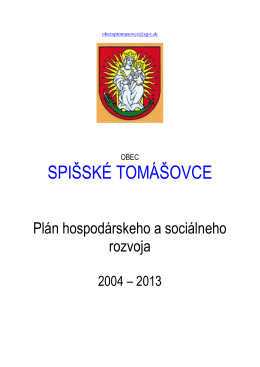 Plán Hospodárskeho a sociálneho rozvoja obce