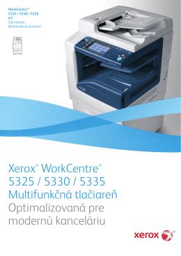 Xerox® WorkCentre™ 5325 / 5330 / 5335 Multifunkčná tlačiareň