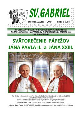 Bulletin Svätý Gabriel 2014/1