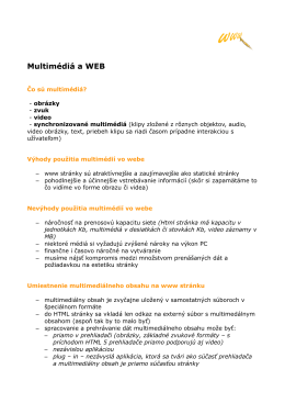 Multimédia a Web