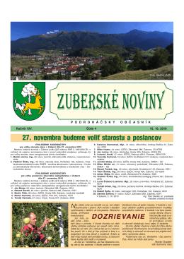 Zuberské noviny 4/2010 Formát PDF