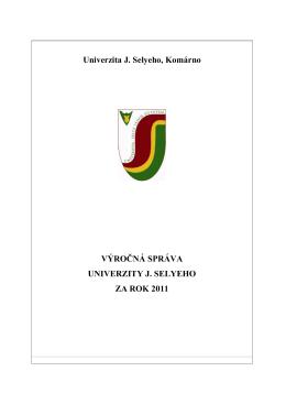 Výročná správa UJS za rok 2011