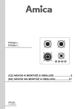 Návod - Amica PGCZ 6411 černá
