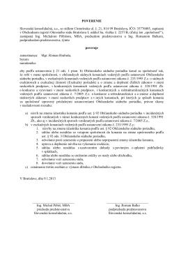Mgr. Roman Hrabuša - Slovenská konsolidačná, a.s.