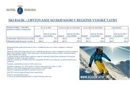 ski balík – ubytovanie so skipasom v regióne vysoké