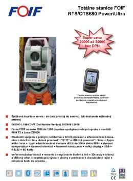Brožúra totálna stanica FOIF OTS 680 (PDF,1.0MB)