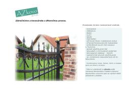 Náš ponukový katalóg - AZkovo – zámočníctvo a kovovýroba