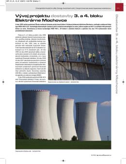 Vývoj projektu dostavby 3. a 4. bloku Elektrárne