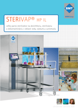 STERIVAP® HP IL - BMT Medical Technology sro