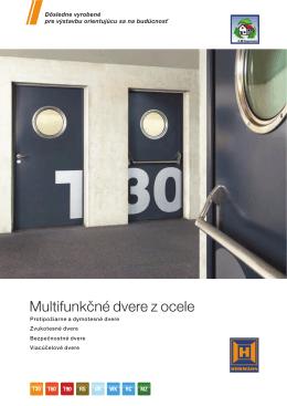 Multifunkčné dvere z ocele