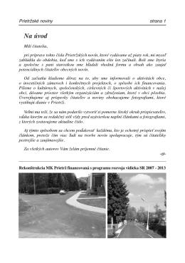 Prietrzske noviny