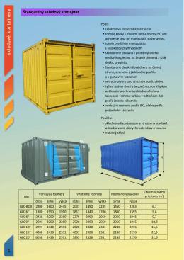 Katalóg skladové kontajnery