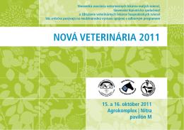 NOVÁ VETERINÁRIA 2011 - Komora veterinárnych lekárov SR