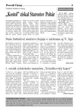 Noviny - Obec Tešedíkovo