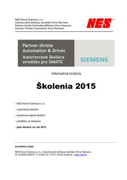 Informačná brožúra školení pre rok 2015