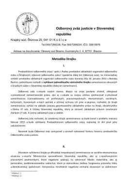 Metodika štrajku - Odborový zväz Justície v SR
